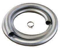 Abgasschlauch für Multifuel-Generator ATG Typ ATG3SP, 32 mm Ø innen, 39 mm Ø außen, Stahl verzinkt, ableitfähig, 3 Meter lang