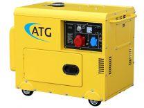 Stromerzeuger ATG Typ ATG6TP, 6kVA, 400/230 Volt, 3-phasig, 50 Hz, schallgedämmt, luftgekühlt