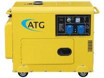 Stromerzeuger ATG Typ ATG6SP, 6kVA, 230 Volt, 1-phasig, 50 Hz, schallgedämmt, luftgekühlt