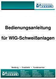 Bedienungsanleitung WIG-Anlage Typ TIG 201 AC-DC online bestellen | Merkle Schweiss Shop
