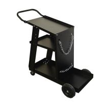 Transportwagen Typ Mobi-Drive für kleine Schweißanlagen inkl. Gasflaschen-Halterung, Kette und Ablageblech, schwarz online bestellen | Merkle Schweiss Shop