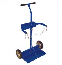 Stahlflaschenwagen für 2 x 20 Liter, Vollgummiräder, zerlegbar online bestellen | Merkle Schweiss Shop