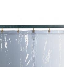 Schutzvorhang S 0, glasklar, 130 x 260 cm