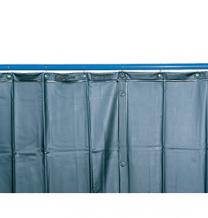 Schweißerschutzvorhang S 9, dunkelgrün matt, nach EN 1598, 130 x 200 cm
