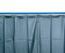 Schweißerschutzvorhang S 9 dunkelgrün matt, nach EN 1598, 130 x 220 cm