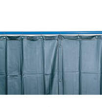 Schweißerschutzvorhang S 9, dunkelgrün matt, nach EN 1598, 130 x 280 cm
