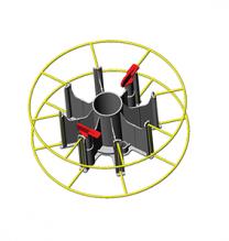 Korbspulenträger bzw. Adapter Typ ME-3 mit 2 Schließhebeln 1-teilig