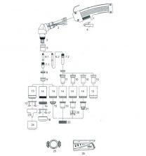 Schneiddüse PH 150/P 150/Prof 150/CP 160, kurze Ausführung, 1,6 mm Ø