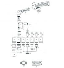Schneiddüse PH 150/P 150/Prof 150, lange Ausführung, zum Kontaktschneiden