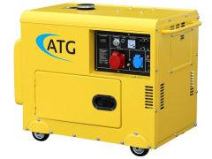 Stromgenerator ATG Typ ATG6TP, 6kVA, 230/400 Volt, 3-phasig, 50 Hz, schallgedämmt, luftgekühlt