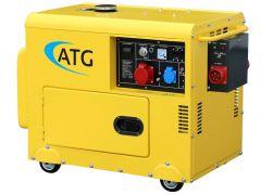 Multifuel-Generator ATG Typ ATG6TP, 6kVA, 230/400 Volt, 3-phasig, 50 Hz, schallgedämmt, luftgekühlt